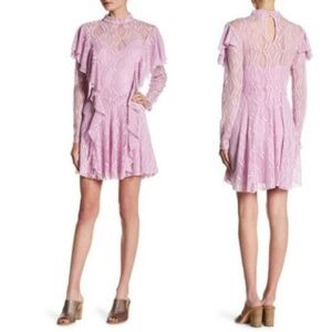 NWT free people WISTERIA  lace dress M